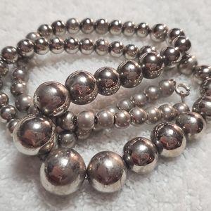"""Vintage SP """"1950's"""" Descending Beaded Necklace"""